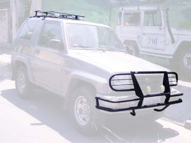 Bagageiro de teto, protetor de para-choque dianteiro com quebra mato