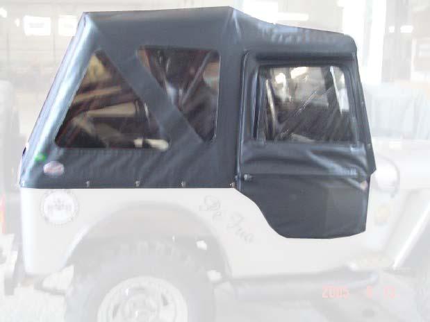 Capota Super Trial 3 janelas ( grafite externa e cinza médio interno )