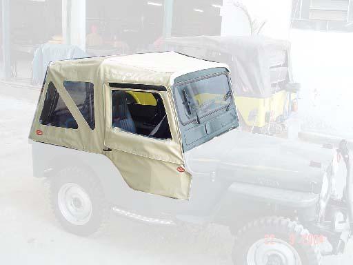 Capota Semi Trial 3 janelas ( areia externa e manta branca interna )