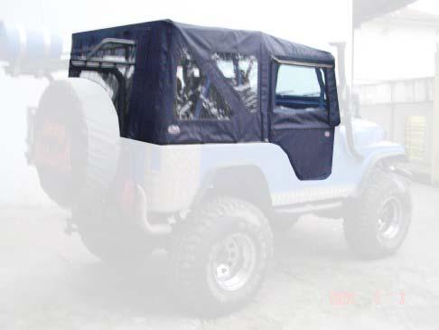 Capota Super Trial com 3 janelas ( azul marinho externo e areia interno )