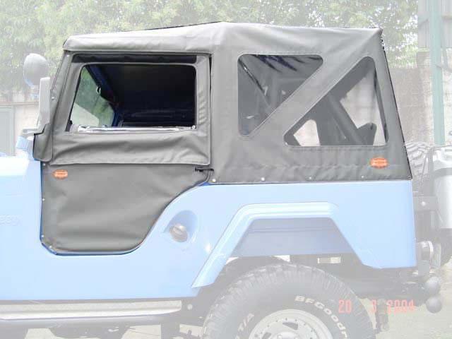 Capota Super Trial 3 janelas ( grafite externa e cinza interno )