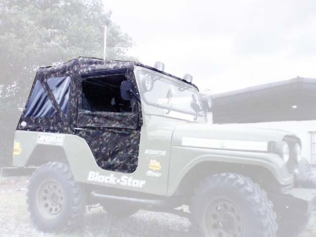 Capota Super Trial 3 janelas ( camuflado da aeronautica externo e castor escuro interno )