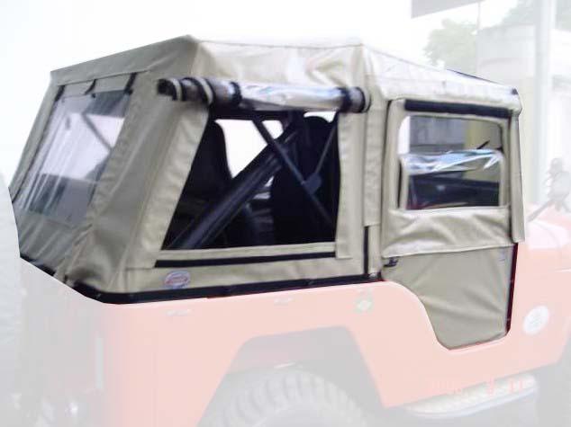 Capota Dupla Face 5 janela ( areia externa e castor escuro interno )