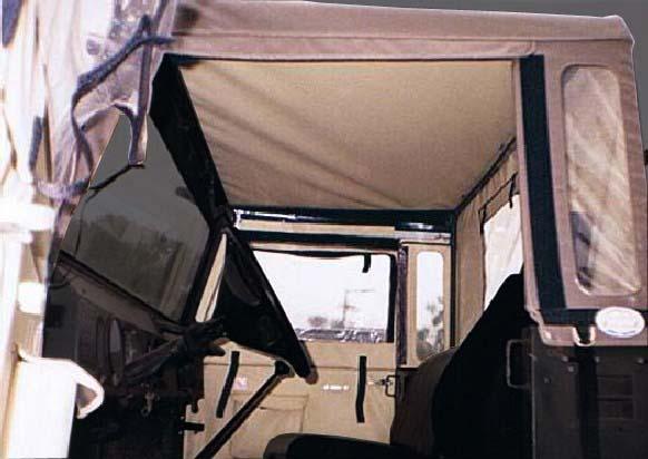 Capota Super Trial com 3 janelas ( castor médio externo e areia interno )