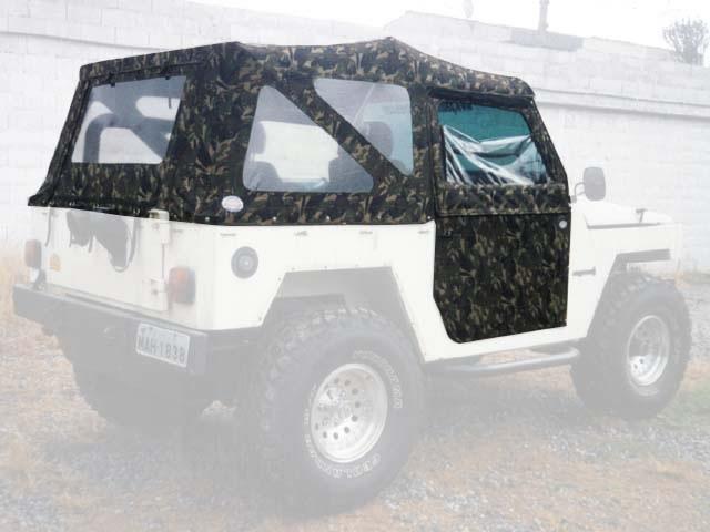 Capota Super Trial com 3 janela ( camuflado aeronáutico externo castor escuro interno )