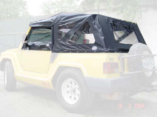 Capota Super Trial Sport 3 janelas ( grafite externo e cinza interno )