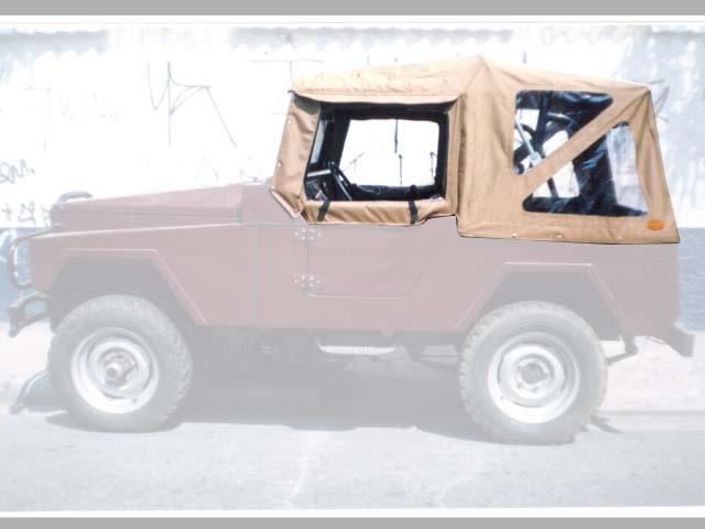 Capota Super Trial Sport 3 janelas ( castor médio externo e castor escuro interno )