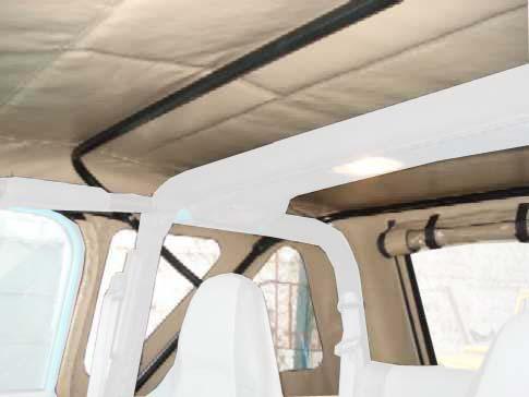 Capota Super Trial 3 janelas ( azul marinho externo e areia interno )