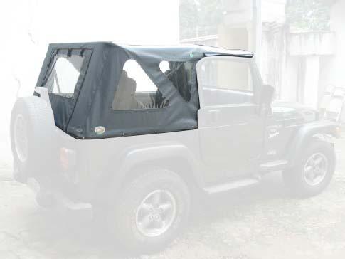 Capota Super Trial Sport com 3 janelas ( cinza externo e grafite interno )