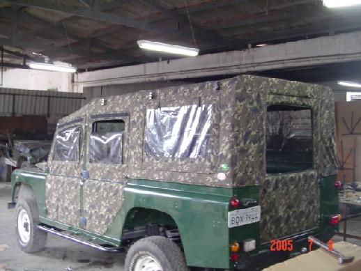 Capota Fixa Reta Super Trial 7 janelas ( camuflado aeronáutico externo e castor escuro )