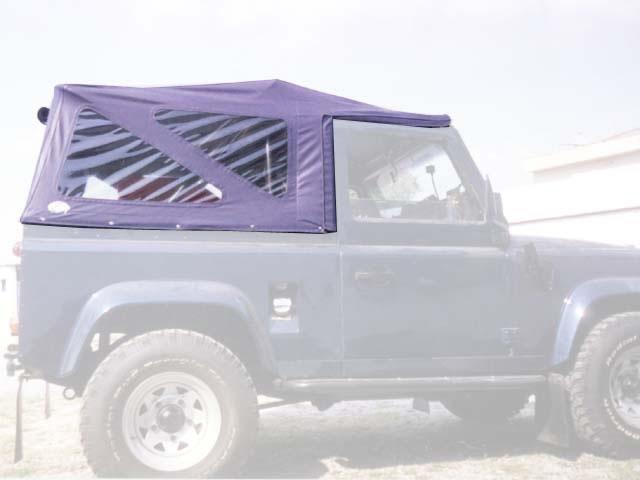 Capota Super Trial Sport 3 janelas ( azul marinho externo e areia interno )