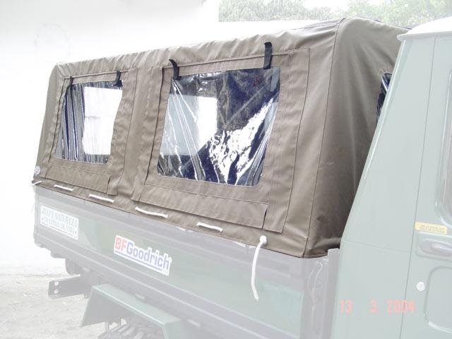 Capota Super Trial tipo Safári 6 janelas ( castor médio externo e castor escuro interno