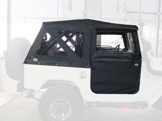Capota Super Trial 3 janelas ( grafite externo e cinza interno )