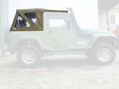 Capota Super Trial 3 janelas ( bege iraque externo e castor médio interno )